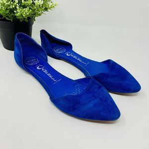 Jeffrey Cambell Ibiza Flats Blue Suede D'Orsay 7